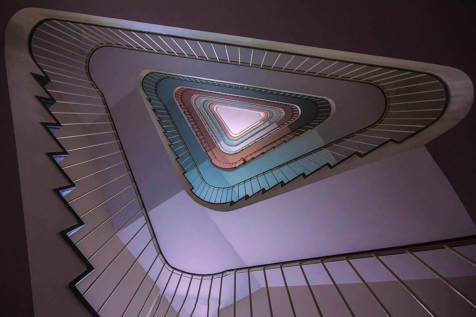 ein besonderer Treppenaufgang