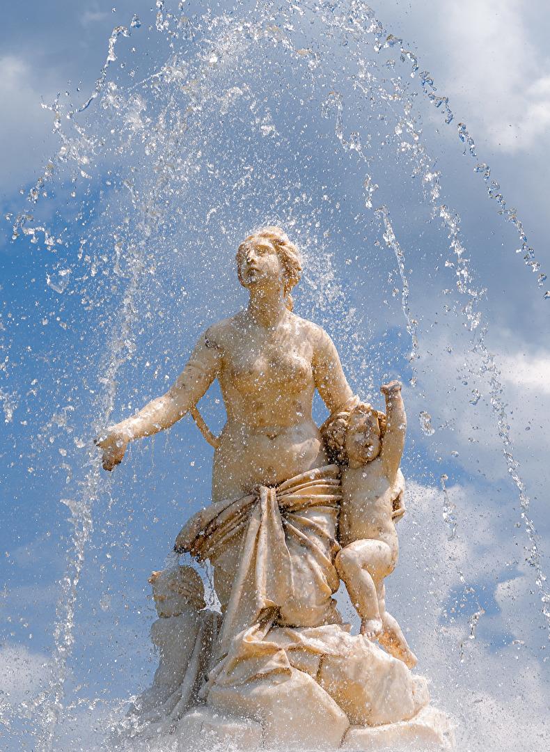 Brunnenfigur auf Herrenchiemsee